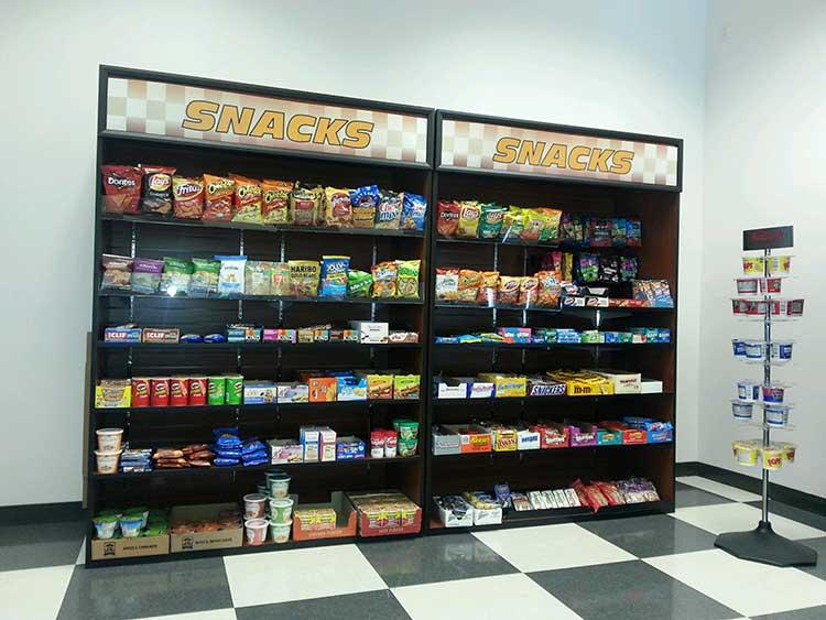 Break room with self-serve micro market in Houston